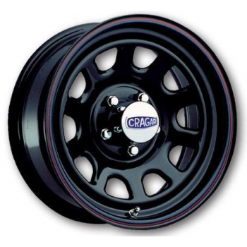 CRAGAR 342 Series Black D Window 15x8